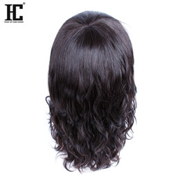 mid hair lengths 2018 - HC Hair 100% Virgin Remy Human Hair Charming Mid-Length BOB Natural Wave Cheap Lace Front Human Hair Wigs For Black Wome