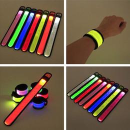 $enCountryForm.capitalKeyWord Canada - Nylon LED Sports Slap Wrist Strap Bands Wristband Light Flash Bracelet Glowing Armband Flare Strap For Party Concert ZJ0069