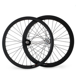 $enCountryForm.capitalKeyWord Canada - 700C 23mm Width Rear Fixed Gear Track Bike Carbon Wheels Clincher Tubular bicycle 32-32 holes Wheelset
