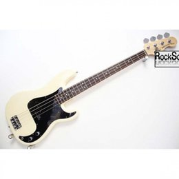 online shopping guitars Custom Shop rose wood Fingerboard JAZZ PRECISION BASS OEM Customizable exclusive LOGO Chrome Milk yellow