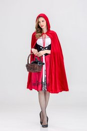Little Hats Australia - Dreamgirl Women's Little Red Riding Hood Costume Halloween Cosplay Costume Adult Sexty Women little Red Riding Hat