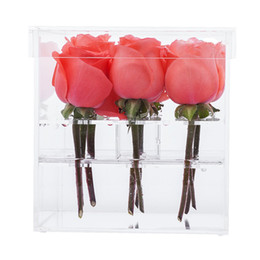 $enCountryForm.capitalKeyWord NZ - Good quality Acrylic Flower Box Vase for Wedding and Home 9 Hole 2 Tiers Handmade