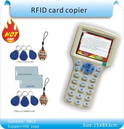 rfid copier 2019 - Wholesale-Updated version English 10 frequency RFID Copier ID IC Reader Writer  copy M1 13.56MHZ Sector0 encrypted +30pc