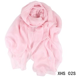 Soft Silk Scarf blue online shopping - Women Silk Scarf cm Fall Winter Long Scarf Solid Color Fashion Soft Blanket Pashmina Scarfs High Quality Wrap Shawl Scarves