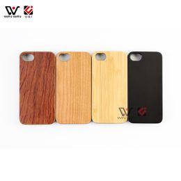 I Phone Case Design Canada - U&I Genuine Blank wood cell phone case for IPhone Customer design LOGO Print for IPhone case