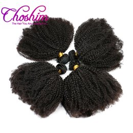 rosa hair brazilian kinky curly UK - Choshim Mongolian Afro Kinky Curly Unprocessd Virgin Hair Weave Bundle Human Hair Extension Slove Rosa Hair Products Natural Color
