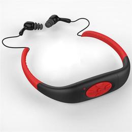 $enCountryForm.capitalKeyWord Canada - Wholesale- FM Radio Stereo Waterproof Sports MP3 Music Player Earphone Underwater Neckband Swimming Diving with Headset 4GB Internal Memory