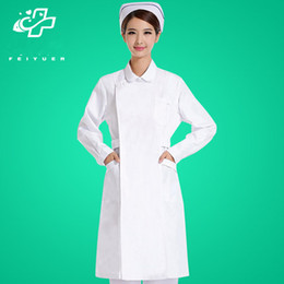 $enCountryForm.capitalKeyWord NZ - Nurse white long-sleeved female white winter uniform thickening custom-made pharmacy semi-permanent overalls