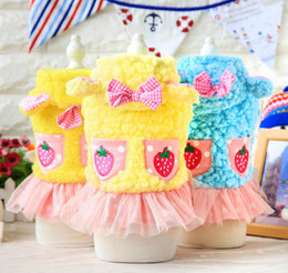 Classic Wear T Shirts Canada - FAFA Pet Products Supplies Dog Clothes Wear Apparel Princess Lace Dress Coat T-shirt Fashion New Arrival Hot Sale 17ZF101