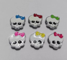 $enCountryForm.capitalKeyWord Canada - Halloween mix color monster skull 8mm Slide Charms Fit Pet Dog Cat Tag Collar Wristband DIY accessory