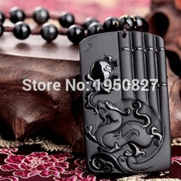 $enCountryForm.capitalKeyWord Canada - Black Obsidian Carved Dragon Brave Troops Kirin Lucky Amulet Pendants Free Beads Necklace Fashion Pendant Jewelry Dropshipping