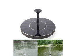 ponds water pump Canada - Mini Solar Power Fountain Pool Water Pump Brushless Energy-saving Plants Watering Kit with Solar Panel for Bird Bath Garden Pond