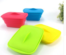 $enCountryForm.capitalKeyWord UK - Kitchen Creative Telescopic Foldable Silicone Lunch Box Food Container Bowl With Cutlery Microwave Oven