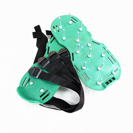 f sandals NZ - Garden Spiked Shoes Creative Ripper Sandals Green Lawn Plastic Buckle Fun Loosen The Soil practical Nail Shoe 25mt F R