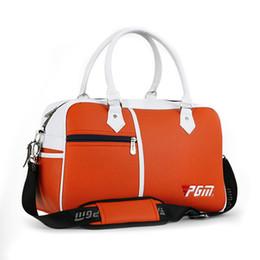 Großhandels- Neue PGM Golf Tasche Golf Clutch Bag Männer Frauen Schuhe Paket Box-förmigen Große Kapazität Doppelstock-Kleidung Tasche 3 Farben