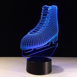 $enCountryForm.capitalKeyWord Canada - ice skates 3D Optical Illusion Lamp Night Light 7 RGB Lights DC 5V USB Charging AA Battery Free Shipping