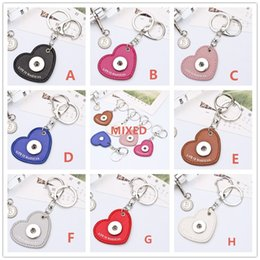 $enCountryForm.capitalKeyWord Canada - 5CM Zinc Leather Snap button pendant Heart Keychains Love optional DIY Noosa Key chain Car Key Storage ring Accessories Components