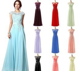 Simple Plus Size Special Occasion Dresses Canada - 2017 In Stock Special Occasion Dresses Lace Chiffon Beaded Sheer Neck Cap Sleeve Prom Party Pageant Dresses Cheap Gown