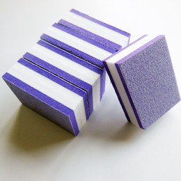 $enCountryForm.capitalKeyWord Canada - Wholesale- 50 Pcs Lot purple mini nail buffer block sponge buffer block disposable nail file 100 180 pedicure tool manicure tool