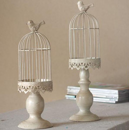 sale candles holders NZ - New design candle holder factory sales europe birdcage lantern Continental Iron Candle Holders wedding home candlestick freeship