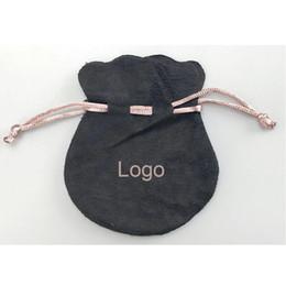 Опт Розовая лента Черный Бархат сумки подходят Европейский Пандора стиль бусины подвески и браслеты ожерелья ювелирные изделия кулон сумки