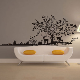 $enCountryForm.capitalKeyWord UK - Free shipping Forest Tree Animal Cartoon Bird Deer Wall Stickers For Kids Rooms Children Bedroom Home Decor