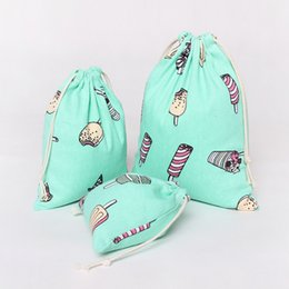 $enCountryForm.capitalKeyWord Canada - Wholesale- YILE Light Green Cotton Canvas Travelling Clothing Sorted Pouch String Closure Multi-purpose Bag Ice Cream Size-choosing N105