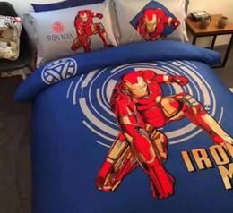 Cartoon Skirt Canada - 2017 cotton Children's cartoon Spider man Superman Bumblebee bedding sets 4pcs, pillowcase, bed skirt Duvet Cover