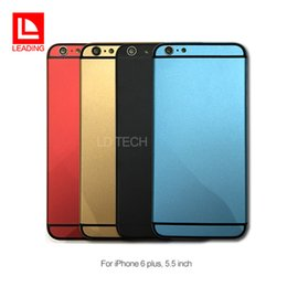 metal siding for houses 2019 - For Apple iPhone 6 plus Colorful Aluminum Alloy Back Battery Cover Housing Metal Door Replacement With Side Buttons Free