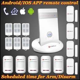 Gsm Smoke Fire Alarm Australia - LS111- New Model KERUI IOS Android APP remote arm disarm Auto dial GSM SIM SMS Wilress home Secure House Burglar Voice Smart Alarm Kit