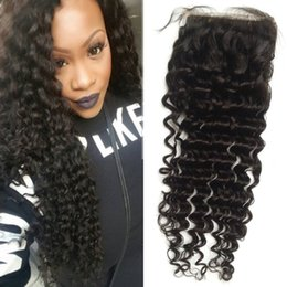 Free way curly part online shopping - Mongolian Curly Human Hair Lace Closure Middle Free Way Part Closure with Baby Hair FDSHINE