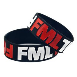 great easter gifts 2019 - 50PCS Lot FML Silicone Wristband Fuc My Life Funny Joke Item Great to Used in Any Benefits Gift cheap great easter gifts