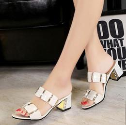 08cc0fa1a 2017 novas sandálias no verão com a versão coreana da moda feminina slim  com chinelos legais fora usando sapatos selvagens
