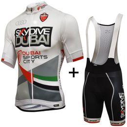 Venta al por mayor de 2019 Pro team Skydive DUBAI camisetas de ciclismo verano Bicicleta maillot transpirable MTB tela de bicicleta de manga corta Ropa Ciclismo