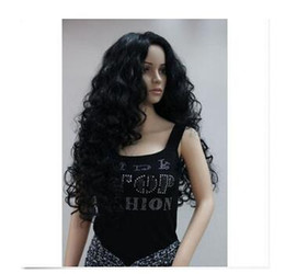 $enCountryForm.capitalKeyWord Canada - New fashion sexy full wig long black curly synthetic hair women' wigs women's peruca queen Cosplay Synthetic Hair Wigs