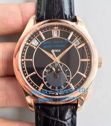 China Top Luxury Mens Automatic Miyota Cal.324S QALU24H Watch Men Complicated Annual Calendar Moonphase Display Swiss Leather Rose Gold Watches supplier mechanical moonphase suppliers