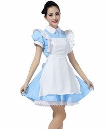 Cosplay Cosplay D'alice Alice Pas Cher-Halloween Maid Costumes Femmes Alice au pays des merveilles Costume Costume Maids Lolita Déguisement Cosplay Costume pour les femmes Fille
