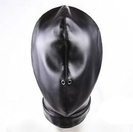 soft bondage gag 2019 - NEW Soft Leather BDSM Toys Bondage Gear Mask Enclosed Hood Choking Fetish Fantasy Sex Slave Head Hood Sex Toys For Coupl