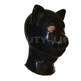 Produto quente sexo Novo macho do sexo feminino 100% látex natural bondage gato cabeça máscara eyepatch amordaçado chapelaria adulto BDSM brinquedo cama jogo set