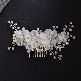 discount wedding accessories korea korea bridal hair combs simulated pearl rhinestone jewelry wedding accessories casamento acessorios