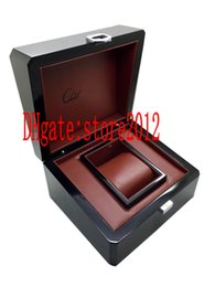 luxury watches drop ship Canada - Drop shipping Luxury Mens For watch Real wood the light Watch Box Original Inner Outer Woman's Watches Boxes Men Wristwatch box