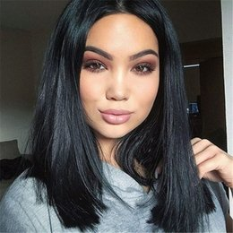 inch wigs NZ - Malaysian Straight Short Bob Wigs Glueless Full Lace Human Hair Wigs for Black Women 130% Density 8-16 inch FDSHINE