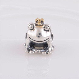 $enCountryForm.capitalKeyWord Canada - Frog Prince Golden Crown beads charm 100% 925 Sterling-Silver-Jewelry Clear Symbols Bead DIY Bracelets Bangles Accessories