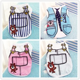 T Shirts For Dogs Wholesale Canada - Dog Clothes for Dogs Summer Cotton Soft Puppy Chihuahua Vest Clothing for Small Dogs Cats Pet T-shirt Outwear XS-XXL