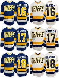 $enCountryForm.capitalKeyWord Canada - Wholesale Charlestown Chiefs Jersey, Mens Hanson Brother Slap Shot 16 JACK HANSON 17 STEVE HANSON 18 JEFF Movie Hockey Jersey S-3XL