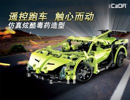 Vehicle Blocks NZ - Double eagle click block remote control car green cool electric vehicles modeling engine cover multi site activities