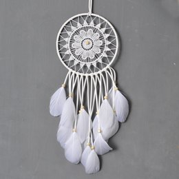 $enCountryForm.capitalKeyWord Canada - Antique Imitation Dreamcatcher Gift checking Dream Catcher Net With natural stone Feathers Wall Hanging Decoration Ornament