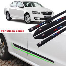 $enCountryForm.capitalKeyWord Canada - For Skoda Series 4pcs High-quality Anti-rub Body Side Door Rubber Decoration Strips Anticollision Strips can Change car-styling