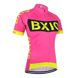 Jersey cycling short sleeve design online shopping - 2017 BXIO Brand New Design Cycling Jersey Women Pink Bicycle Clothing Short Sleeve Cycling Clothing Anti Pilling Ropa Ciclismo BX