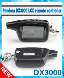 System Car NZ - Wholesale-2016 Free shipping Pandora DXL3000 two way LCD remote starter car alarm system Pandora DXL 3000 Russian version